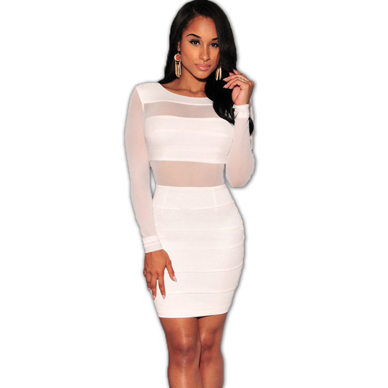 White Long Sleeve Bodycon Dress Plus Size - 18 Best Images ...