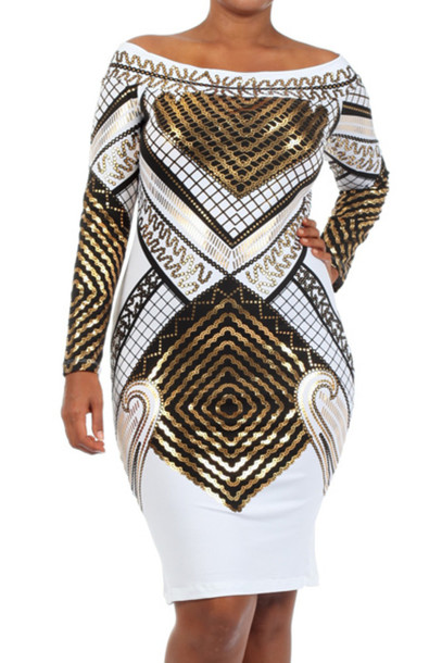 White Long Sleeve Bodycon Dress Plus Size - 18 Best Images
