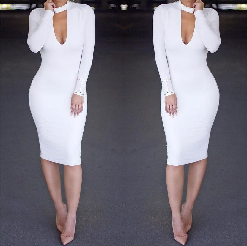White Long Sleeve Bodycon Dress Plus Size 18 Best Images Dresses Ask