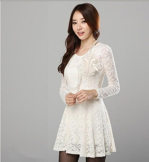 White Long Sleeve Lace Gown : Simple Guide To Choosing - Dresses Ask