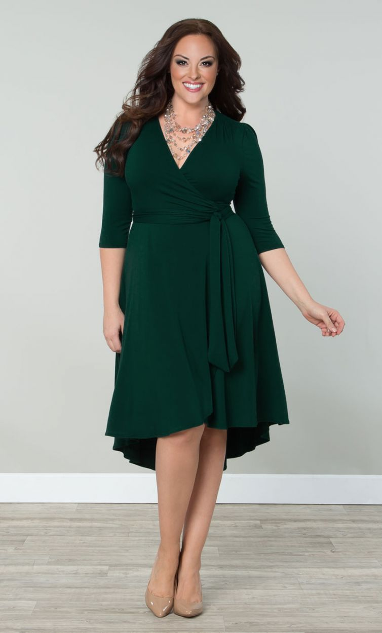 Wrap Plus Size Dress & How To Get Attention