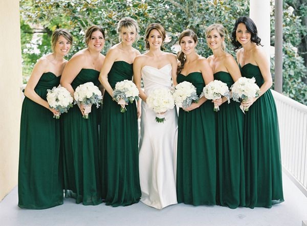 emerald green and white bridesmaid dresses - Dresses Ask