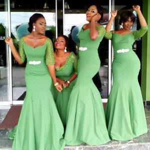 emerald bridesmaids dresses
