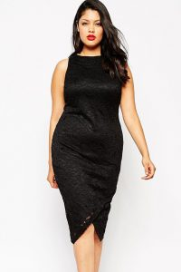 Black Midi Dress Plus Size