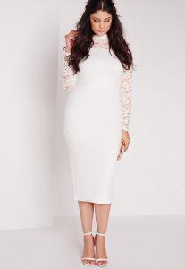 Lace Midi Dress Plus Size