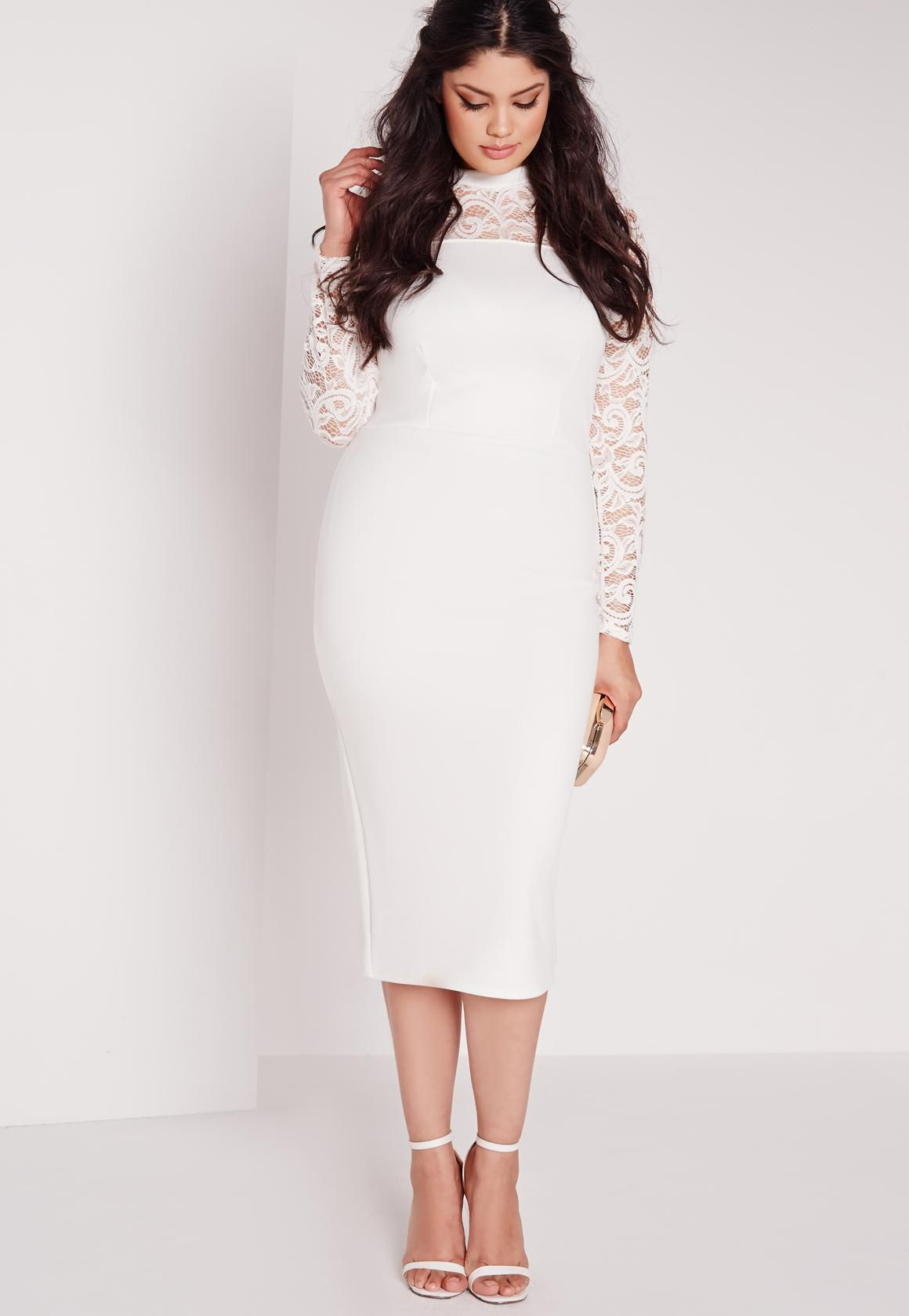 Lace midi dress plus size dresses ask for Plus size midi dresses for weddings