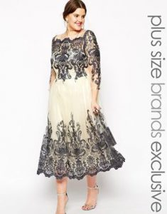 lace cocktail dress plus size
