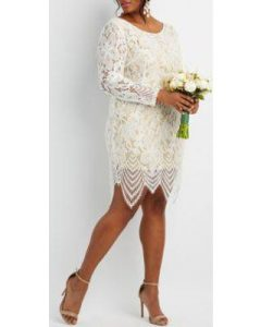 lace sheath dress plus size