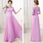 Long Pink Single Piece Dress