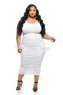 Plus Size Midi Tank Dress - Dresses Ask