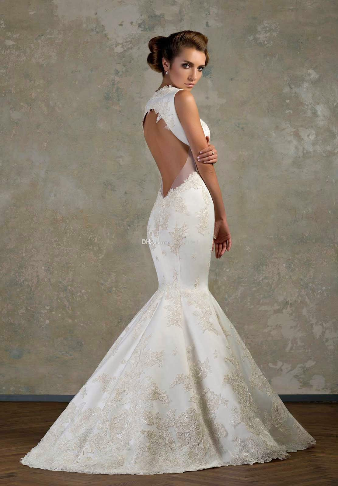 Backless Lace Bridesmaid Dress & Make You Look Thinner