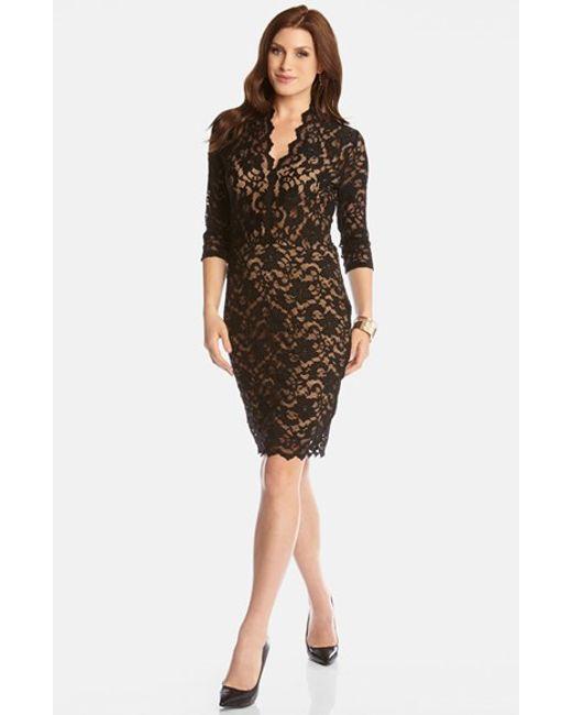Black Lace Scalloped Dress : Beautiful And Elegant