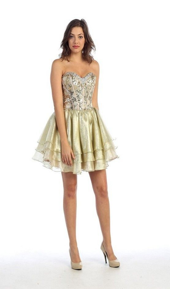 Gold Sequin And White Dress & Guide Of Selecting