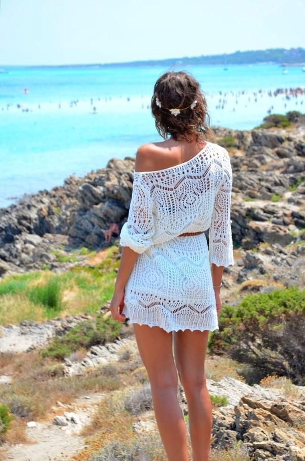 Lace Dress Beach - 18 Best Images