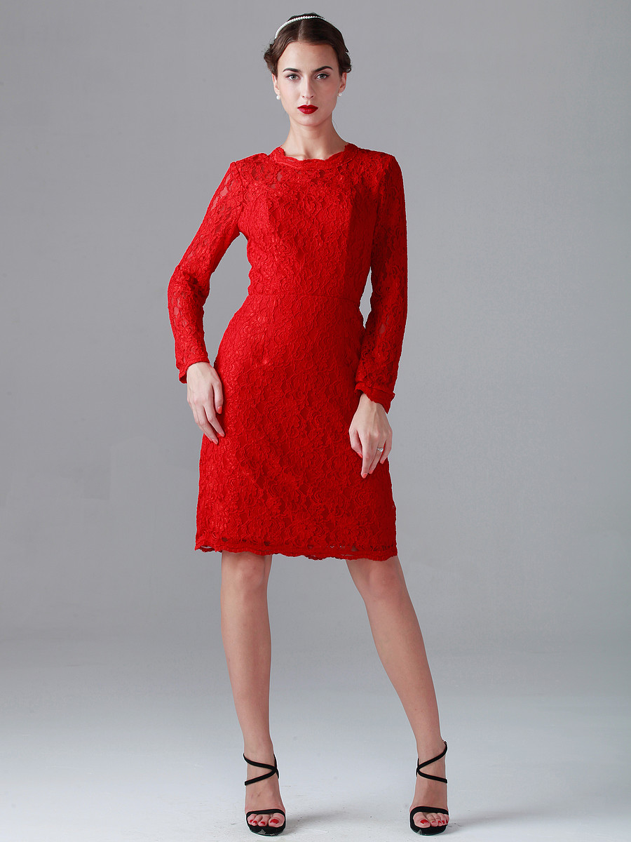 Lace Red Dress Long & 2017-2018 Fashion Trend