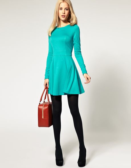 Long Sleeve Dress Fit And Flare & Online Fashion Review