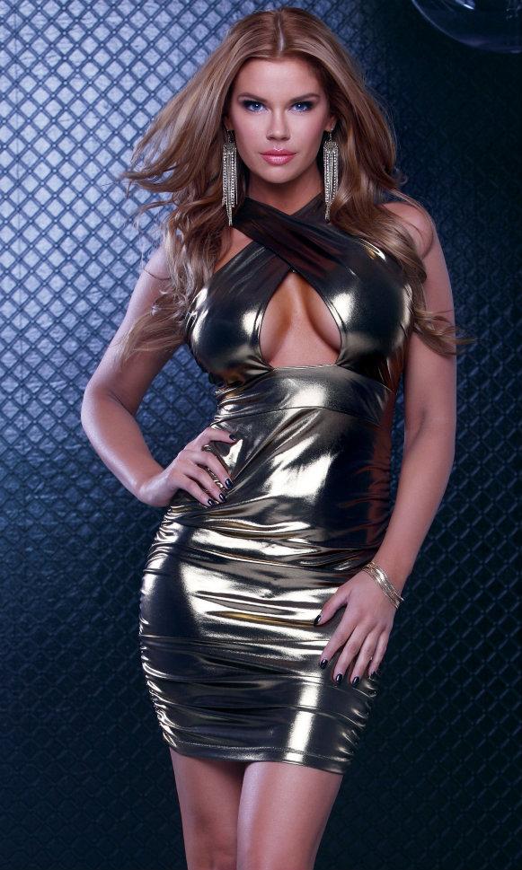 Metallic Dress Long : Make You Look Thinner
