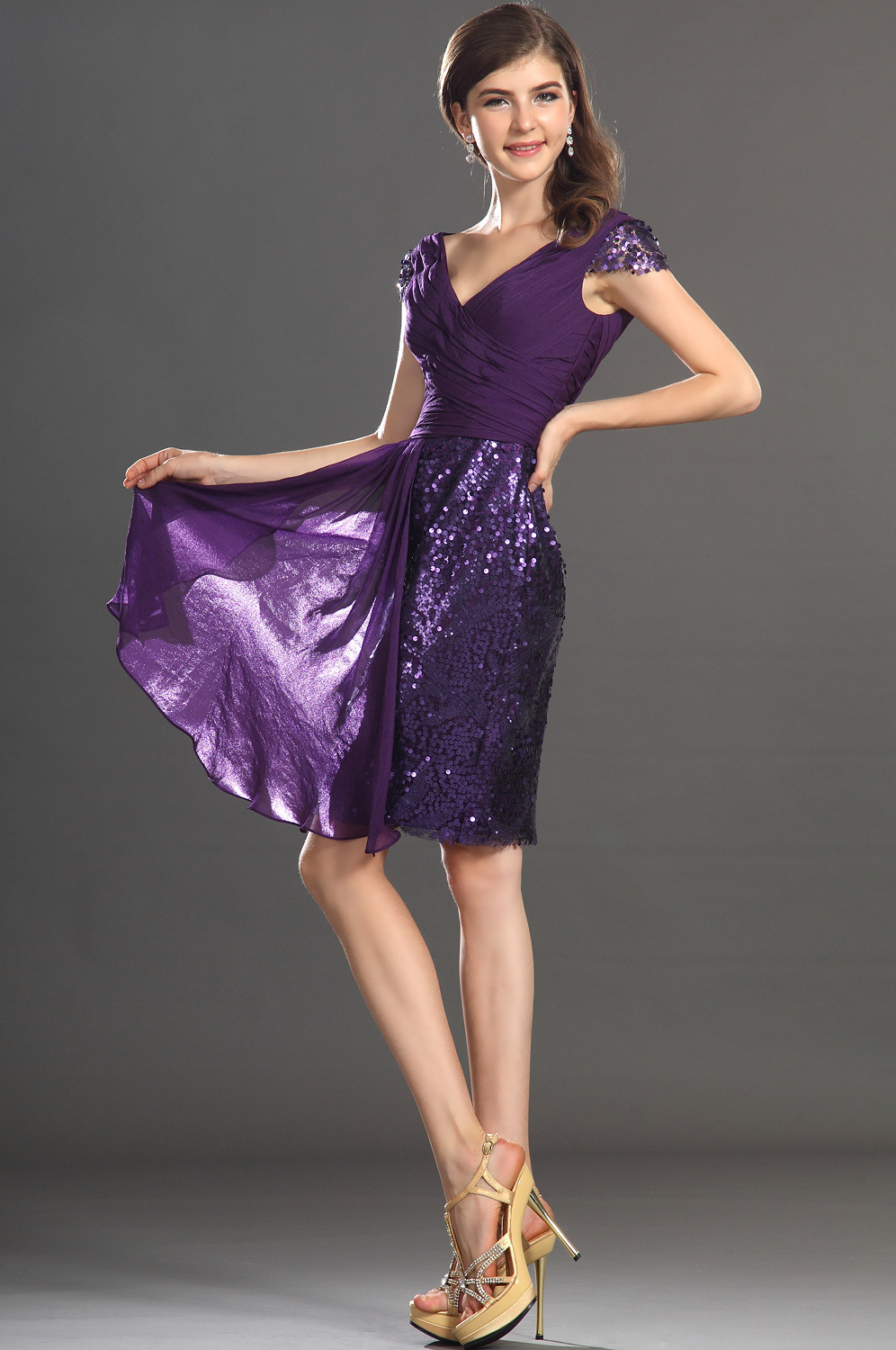 Metallic Purple Dress And Oscar Fashion Review Dresses Ask