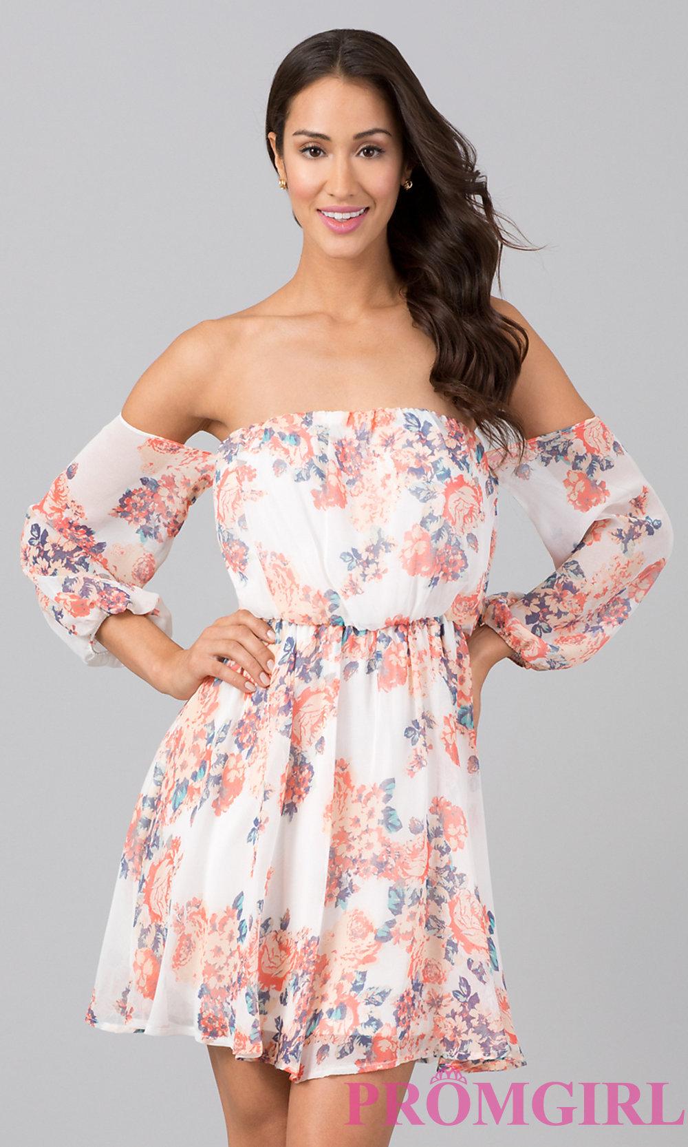 Off Shoulder Printed Dress & Always In Vogue 2017
