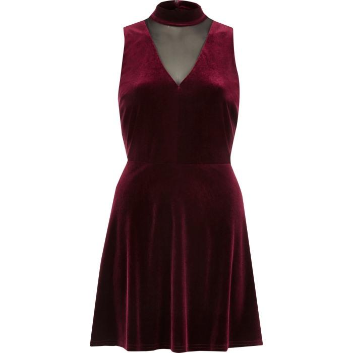 River Island Dark Red Dress : Online Fashion Review