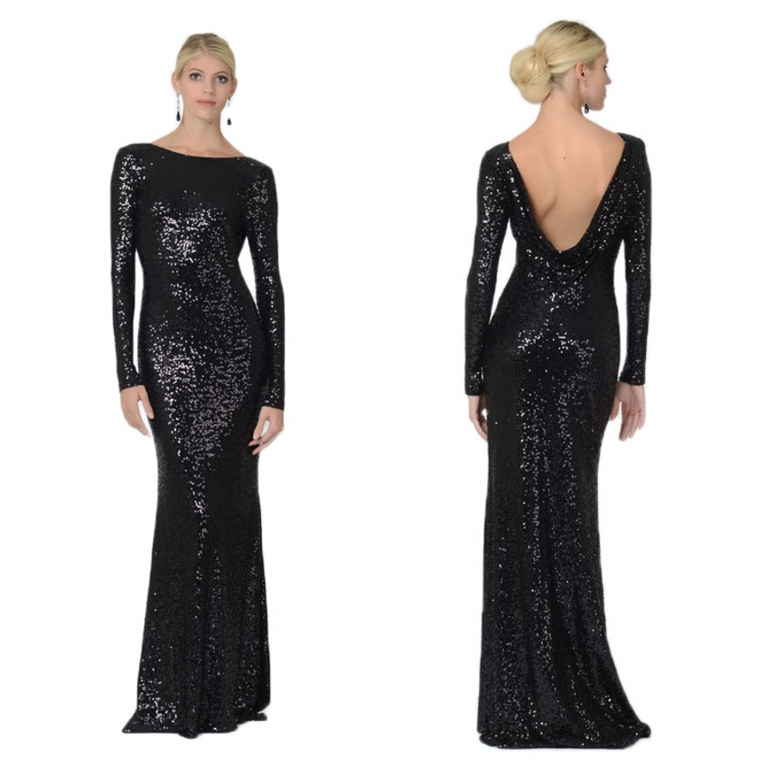 Sequin Black Long Dress & Make Your Life Special