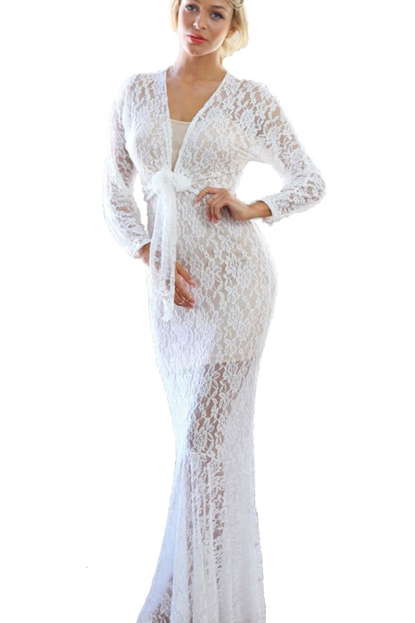 White Long Sleeve Lace Gown : Simple Guide To Choosing