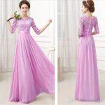 Long Pink Single Piece Dress
